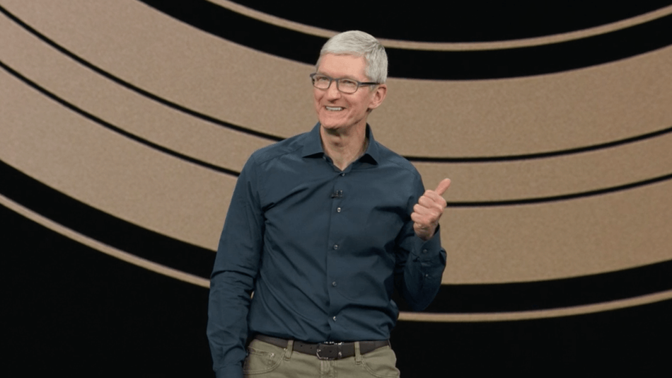 Tim Cook, no evento da Apple realizado em Setembro
