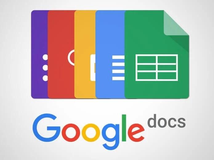 ícones do Google Docs