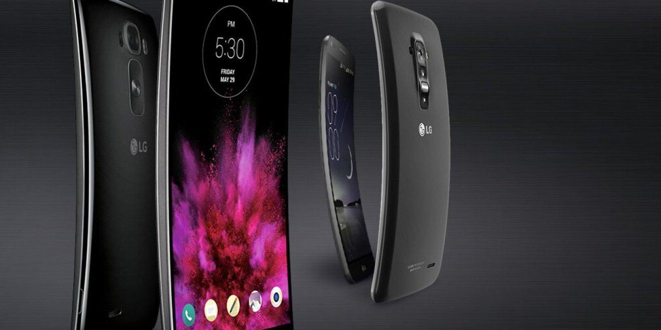 Imagem do LG G Flex, primeiro conceito de smartphone dobrável da empresa