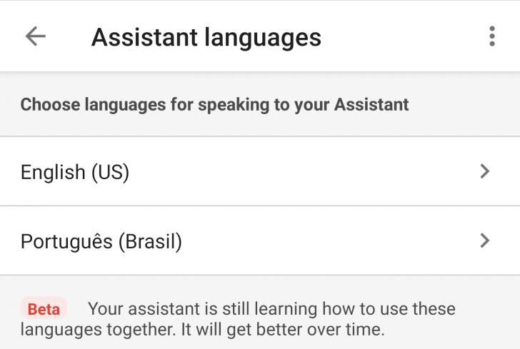 Captura de tela mostrando o suporte ao português para o Google Home
