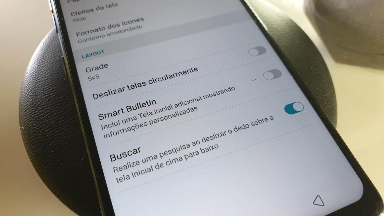 foto explicativa de como remover o boletim inteligente do LG G7 ThinQ