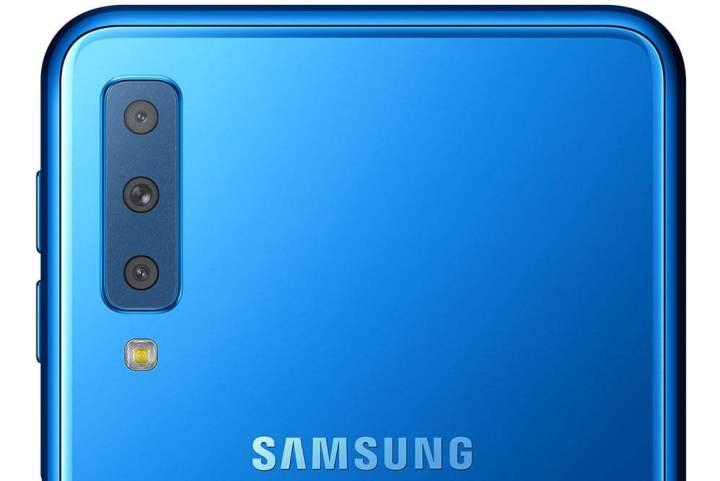 Câmera do Galaxy A7
