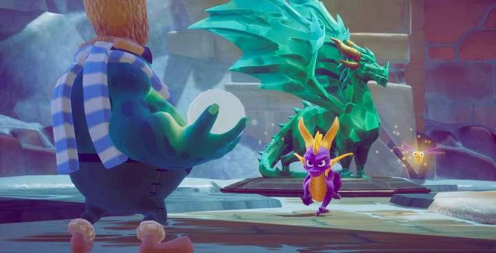 Spyro está sempre acompanhado de seu companheiro alado, a libélula Sparx.