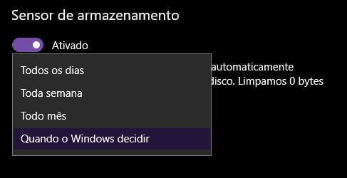 Faça o Windows 10 apagar 'automagicamente' os arquivos temporários 9