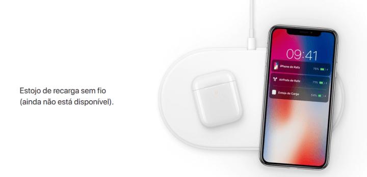 No ano passado, a Apple removeu o AirPower do site, com exceção desta imagem.