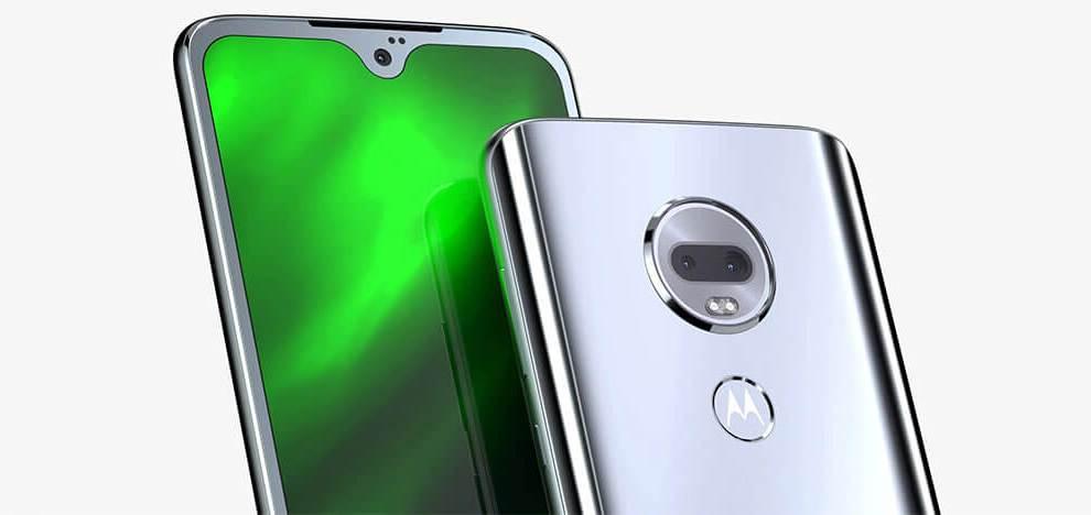 Foto de divulgação do novo aparelho da Motorola, o Moto G7