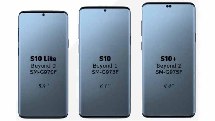 Galaxy S10 virá em três versões, a lite, a normal e a plus