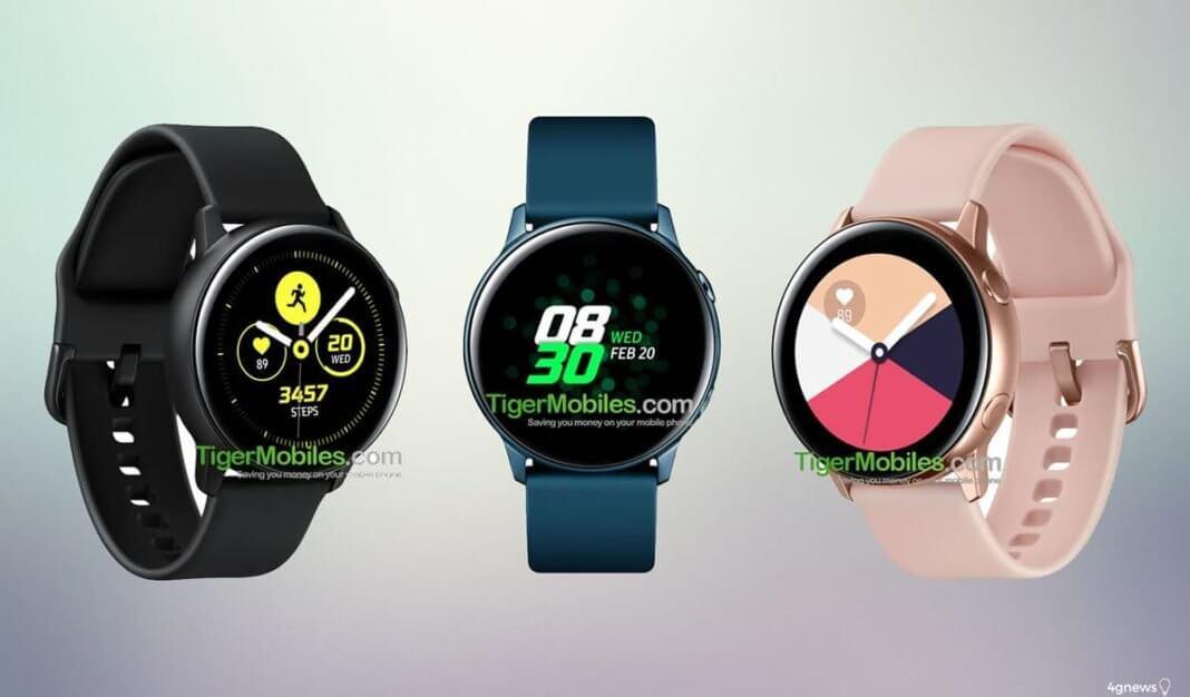 Galaxy Watch Active serão comercializadas em quatro cores