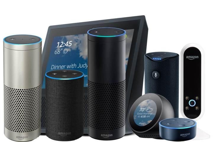 Família de dispositivos Amazon Echo, gerenciados pela Alexa