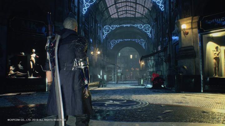Quando o jogador toma o controle de Nero pela primeira vez em Devil May Cry 5.