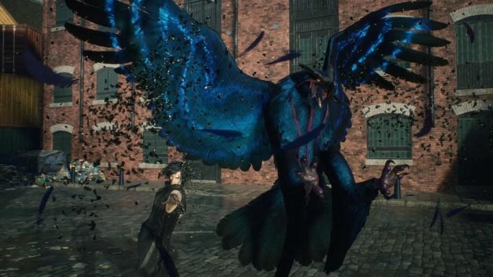 Um dos familiares de V, o Griffon que está presente em Devil May Cry 5.