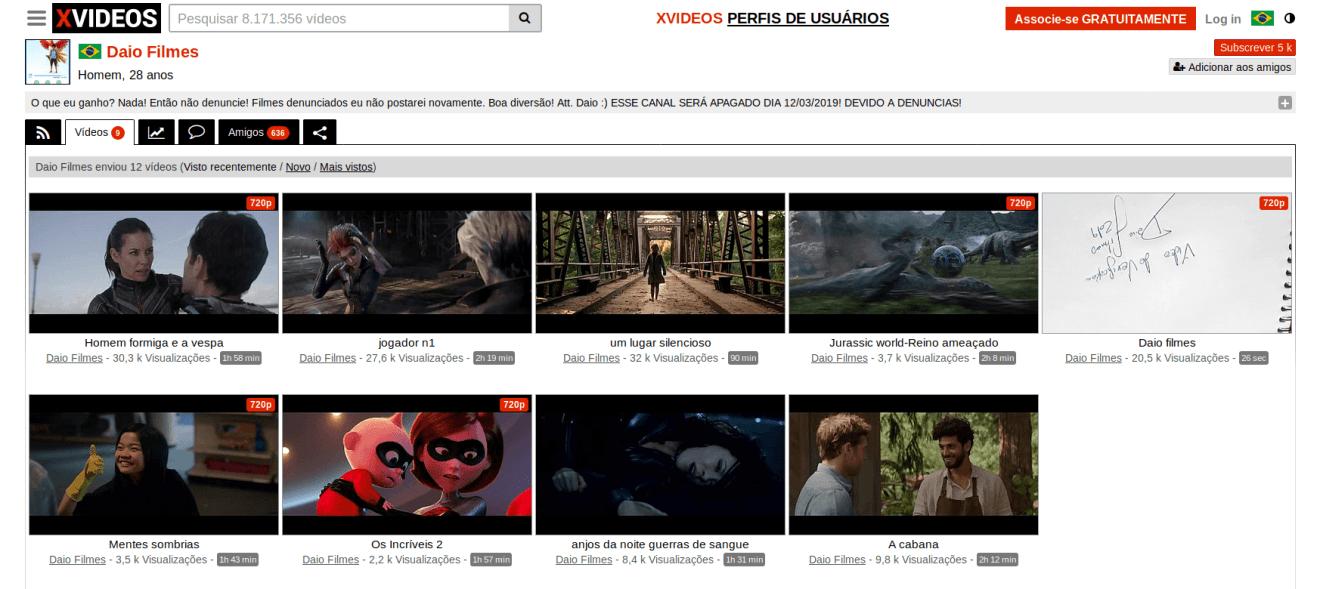Filmes no Xvideos