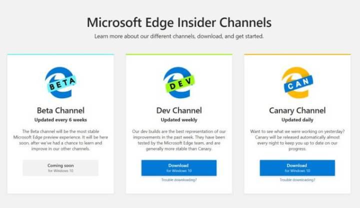 Duas versões do novo Edge já estão disponíveis para download no Windows 10