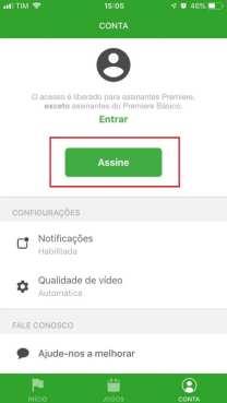 Assista futebol com o Premiere no iOS