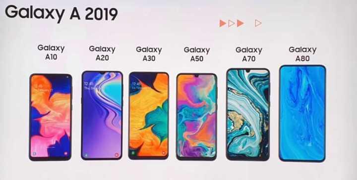 Família Galaxy A 2019