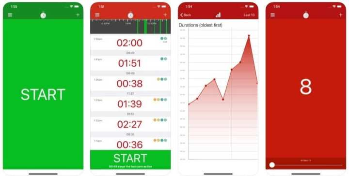 Contraction timer app para mães