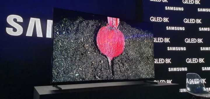 Tela da nova QLED 8K da Samsung