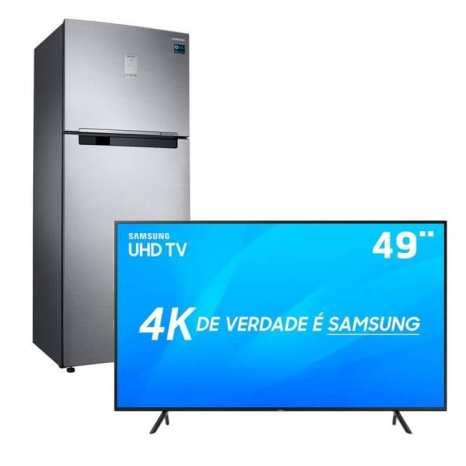 TV 4K e Refrigerador Samsung