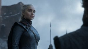 Daenerys no sexto episódio da oitava temporada de Game of Thrones.