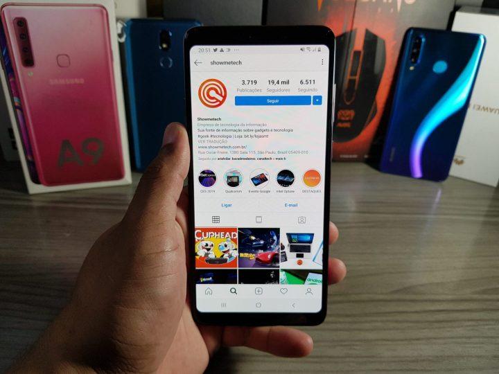 A9 (2018) consegue se sair muito bem com aplicativos do cotidiano e redes sociais