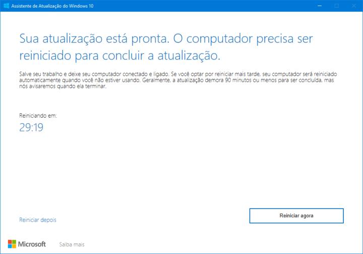 Windows 10 May 2019: como atualizar seu computador