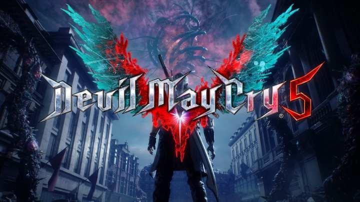 Nova logo de Devil May Cry 5, simbolizando o renascimento da franquia.