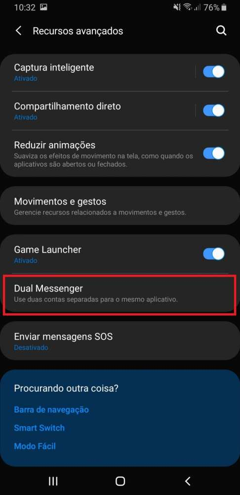 Dual messenger do Galaxy A9 2019