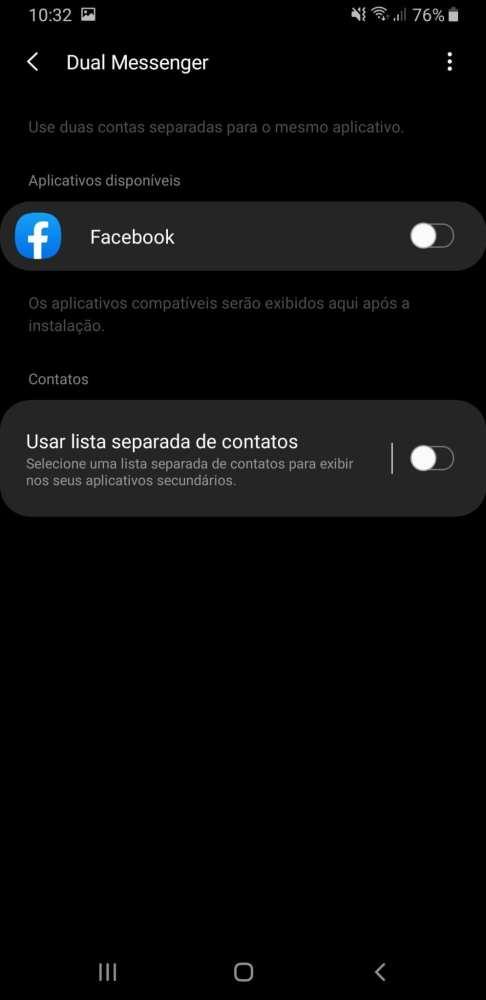 Dual messenger do Galaxy A9 2019