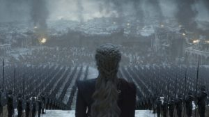 Daenerys na prévia do último episódio de Game of Thrones.