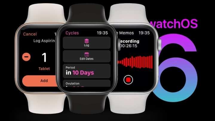 Novos aplicativos incluem o Cycle, Dose e Voice Memo