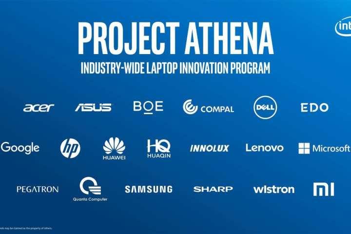 Project Athena Intel empresas parceiras