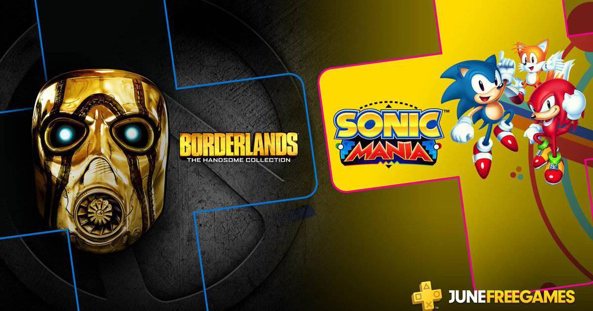 PS Plus de junho terá Borderlands e Sonic Mania 6