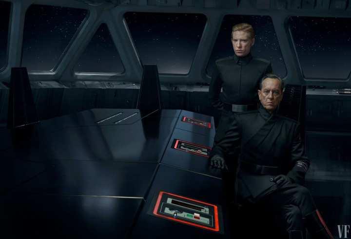 Foto mostra General Hux e outro General da primeira Ordem presentes em Star Wars