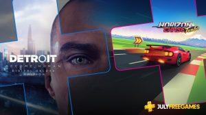 PS Plus de Julho terá Detroit e Horizon Chase Turbo 13