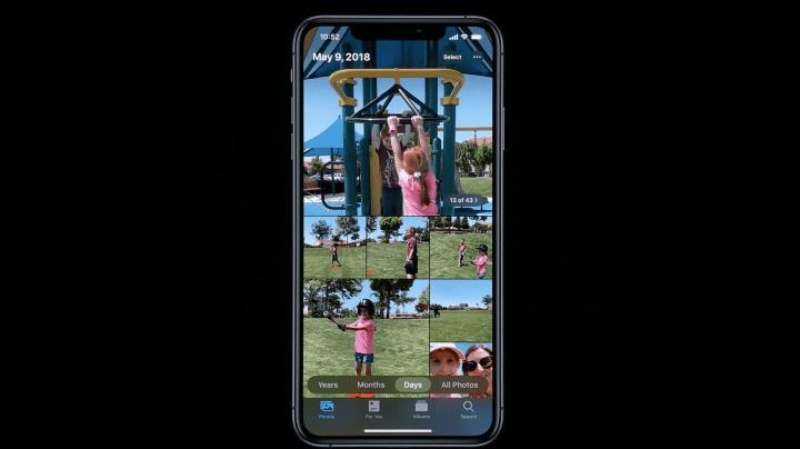 Fotos visualizadas em grades