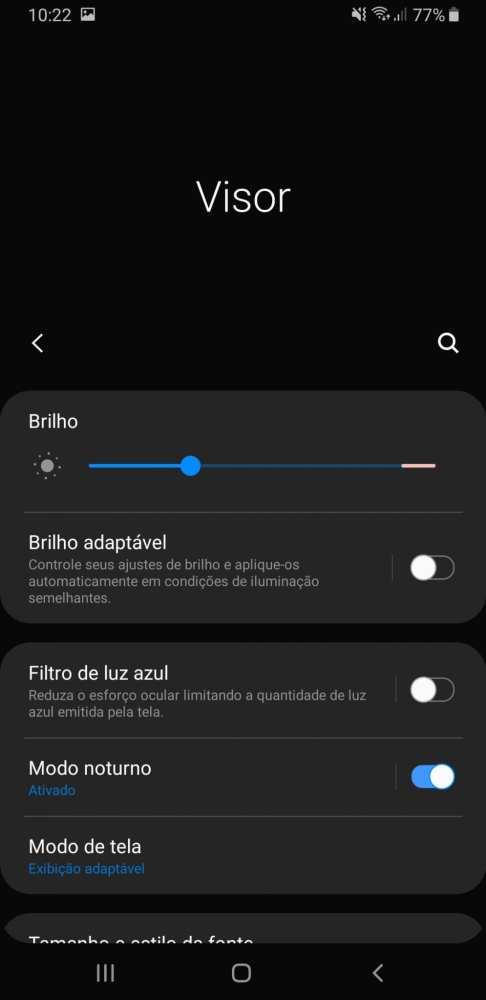 brilho adaptável Galaxy A9 2018
