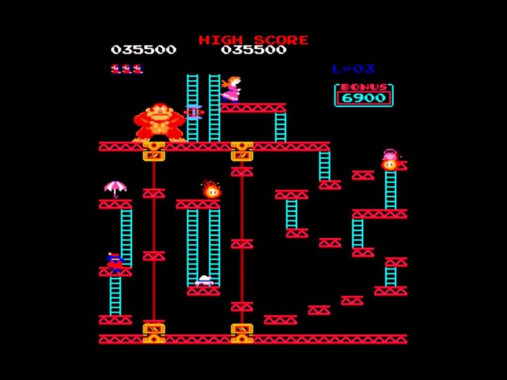 Donkey Kong também foi o primeiro game em que o famoso Mario fez sua estreia