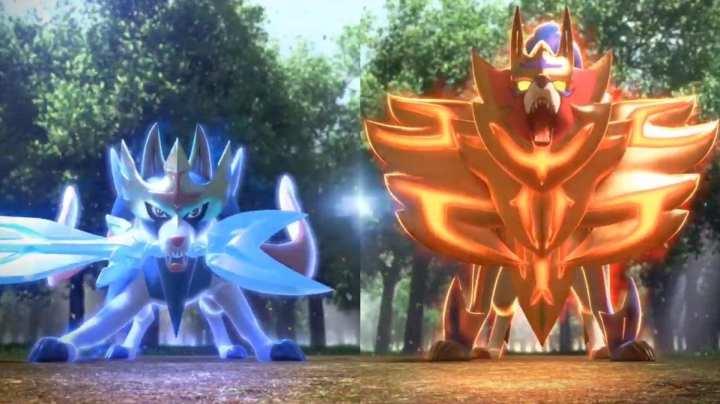 Zacian e Zazenta no Pokemon
