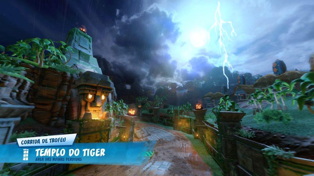 Crash Team Racing contém belos cenários.