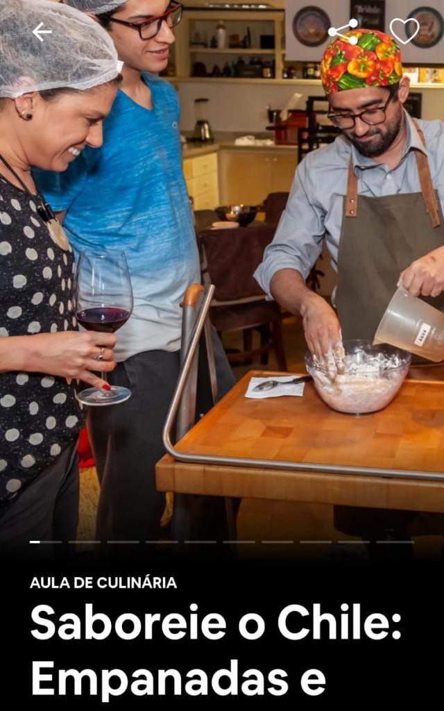 Franco Alejandro convida os usuários a conhecerem um pouco do Chile: das Empanadas ao vinho