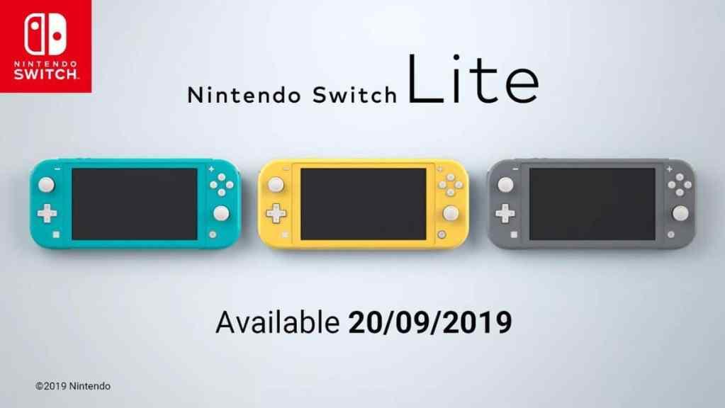 O Nintendo Switch Lite vem em três cores diferentes no lançamento: Amarelo, Turquesa e e Cinza