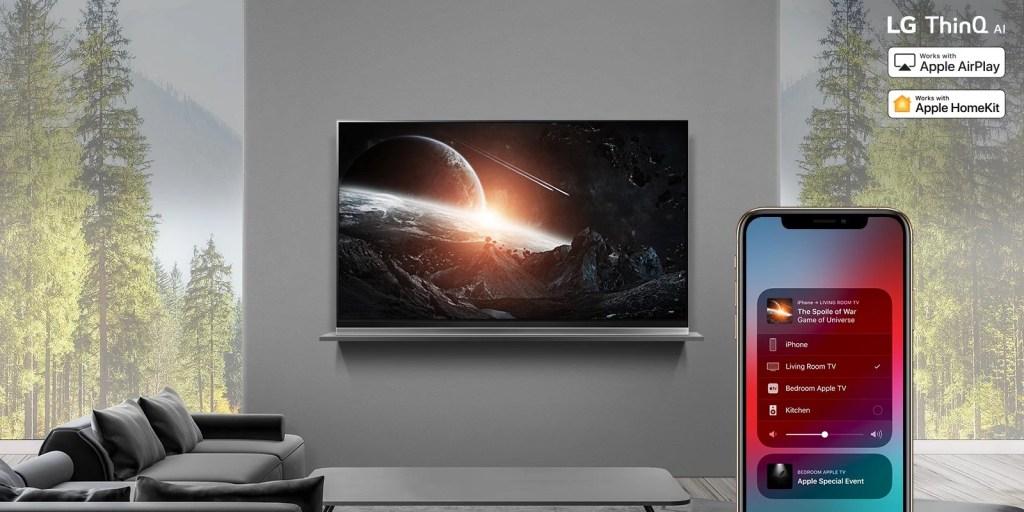 LG vai permitir que Apple AirPlay 2 e HomeKit, ambos da Apple, possam ser comandados pelos televisores NanoCell AI
