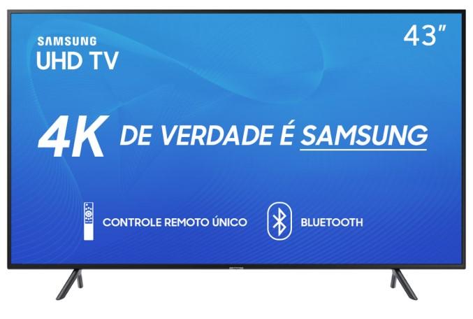 Smart TVs mais buscadas de julho - Smart TV LED 43 Samsung 4K HDR 43RU7100 3 HDMI