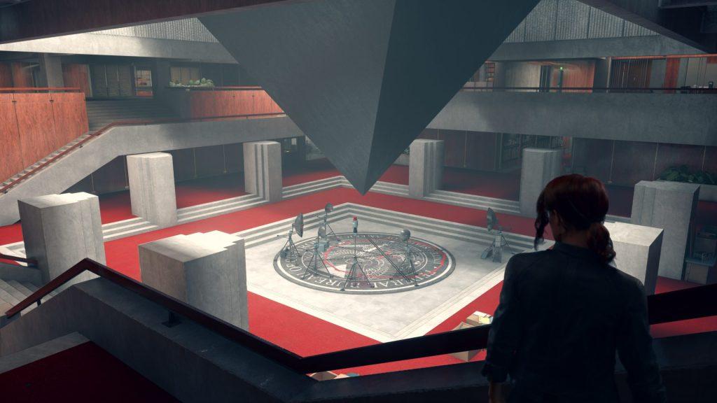 Foto mostra o QH principal do game, local onde Jesse, a protagonista, faz seus planejamentos de onde irá explorar logo em seguida.