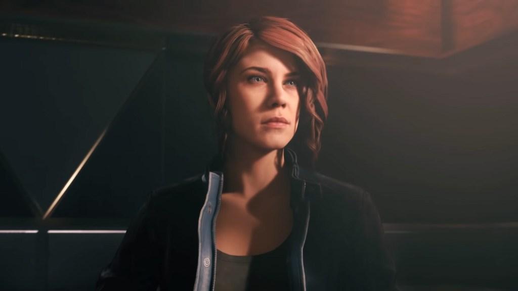Foto mostra Jesse Faden, protagonista de Control, o mais novo jogo da Remedy.