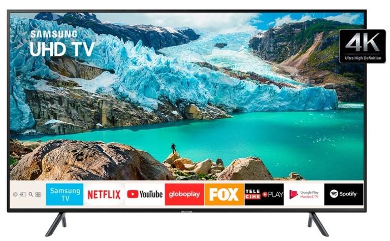 A Smart TV Samsung 50RU7100 entrega qualidade premium