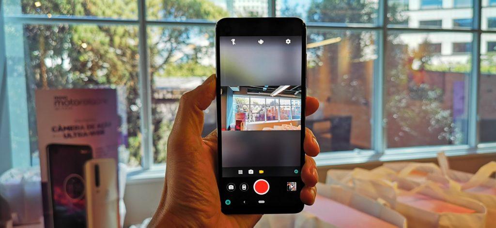 Câmera de ação do Motorola One Action