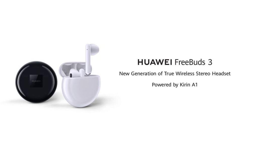 Os fones de ouvido FreeBuds 3 são os grandes concorrentes dos AirPods 2 e Galaxy Buds