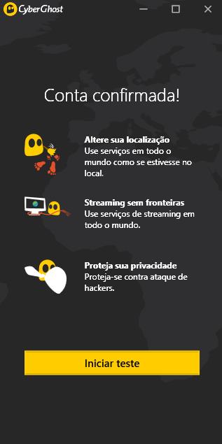 Criar conta no Cyberghost VPN
