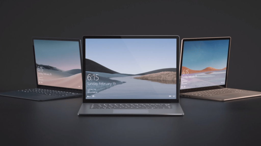 Surface laptop 3 apresentado no evento